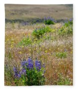 Spring Lupines And Cheatgrass Fleece Blanket
