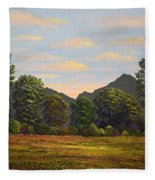 Spring Meadow At Sutter Buttes Fleece Blanket