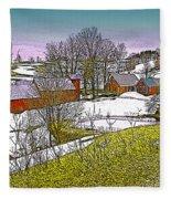 Spring Melt At Jenne Farm Fleece Blanket