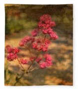 Spring Mignonette Flower Fleece Blanket