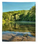 Spring Mill Lake Fleece Blanket