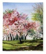 Spring Morning Fleece Blanket