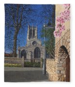 Spring Morning Brides Cottage Tickhill Yorkshire Fleece Blanket