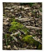 Spring Moss Fleece Blanket