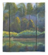 Spring On The Coosa  Fleece Blanket