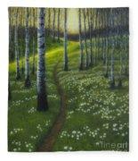 Spring Path Fleece Blanket