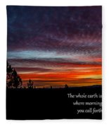 Spring Peaceful Morning Sunrise Bible Verse Photography Fleece Blanket