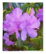 Spring Pink Azalea Fleece Blanket