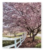 Spring Pink Fleece Blanket