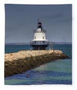 Spring Point Ledge Light Fleece Blanket