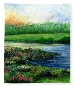 Spring Pond Fleece Blanket