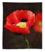 Spring Poppies Fleece Blanket