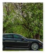 Spring Porsche Fleece Blanket
