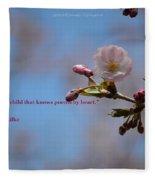 Spring Quote Fleece Blanket