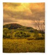 Spring Rain - White Mountains -maine Fleece Blanket