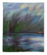 Spring Reed In The Canyon Fleece Blanket