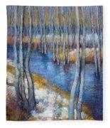 Spring River Thaw Fleece Blanket