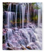 Spring Runoff At The Falls Fleece Blanket