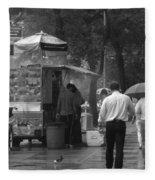 Spring Shower - Rainy Day In New York Fleece Blanket