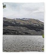 Spring Snow In The Highlands Fleece Blanket