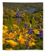 Spring Southwest Style  Fleece Blanket