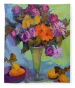 Spring Still Life Fleece Blanket