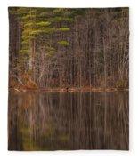 Spring Stillness Fleece Blanket