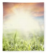 Spring Sun Fleece Blanket