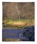 Spring Sunrise At Ring Bolt Rock Fleece Blanket
