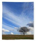 Spring Sunshine Epsom Downs Surrey Fleece Blanket
