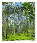Spring Swamp Fleece Blanket