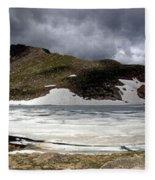 Mountain Lake Spring Thaw Fleece Blanket