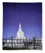 Spring Time At The Idaho Falls Temple Fleece Blanket
