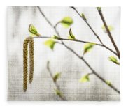 Spring Tree Branch Fleece Blanket