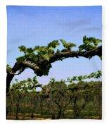 Spring Vineyard Fleece Blanket
