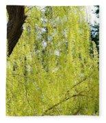 Spring Weeping Willow Fleece Blanket