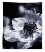 Spring White Dancing Fleece Blanket