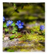 Spring Wild Flowers Fleece Blanket