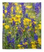Spring Wildflower Bouquet  Fleece Blanket