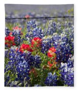 Spring Wildflowers Fleece Blanket