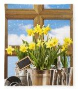 Spring Window Fleece Blanket