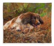 Springer Spaniel 2 Fleece Blanket