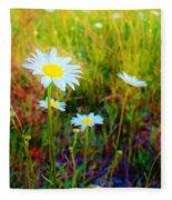 Springing Daisy's Fleece Blanket