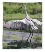 Springing Sandhill Crane Fleece Blanket