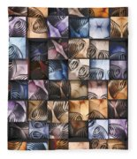 Springs And Squares Fleece Blanket