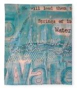 Springs Of Living Water Fleece Blanket