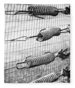 Springs On The Fence Fleece Blanket