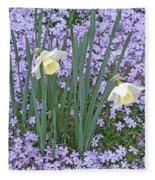 Springtime Beauties Fleece Blanket