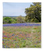 Springtime In Texas Fleece Blanket