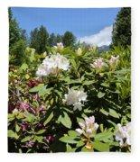 Springtime In The Cascades Fleece Blanket